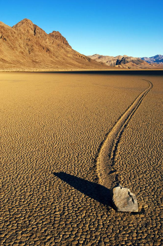 Moving Stone in Desert of Death Valley Wall Mural