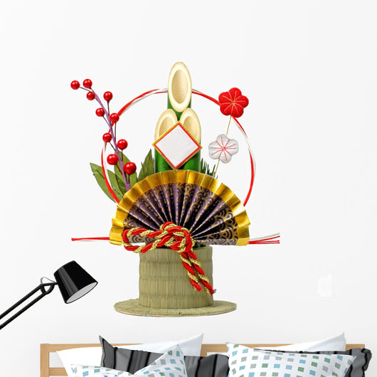 Japanese New Year Decoration Wall Decal