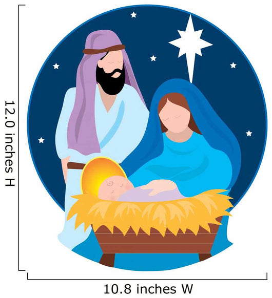 Nativity Scene Wall Decal
