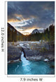 Kicking Horse River At The Natural Bridge Wall Mural