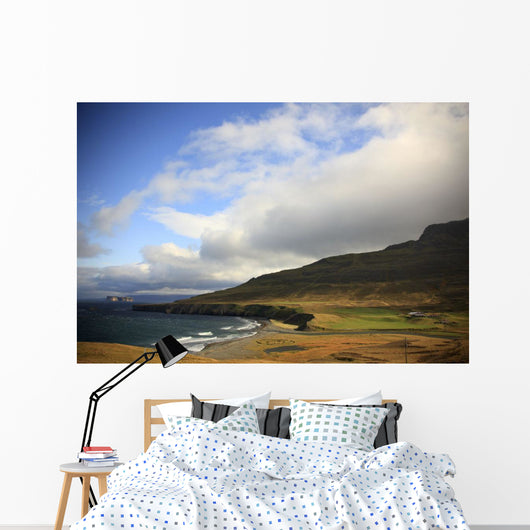 Farmland Along Highway 745, Northern Iceland Wall Mural