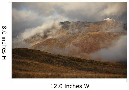 The Cloud Shrouded Slopes Of Mount Adney Along The Dempster Highway Wall Mural