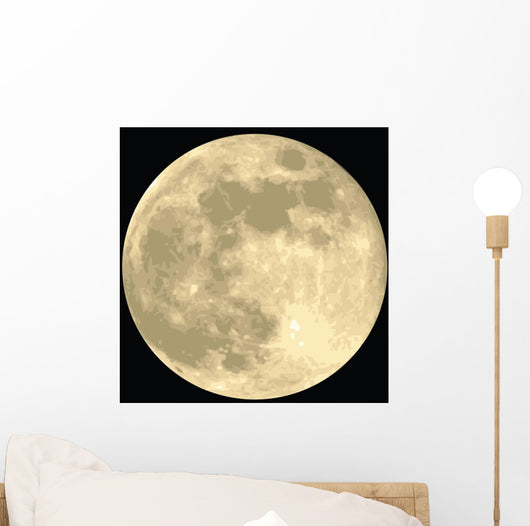 Full Moon Realistic Vector