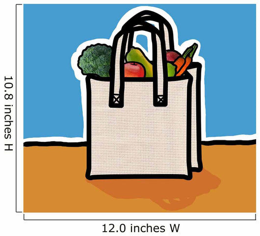 Cloth Shopping Bag With Vegetables Wall Mural