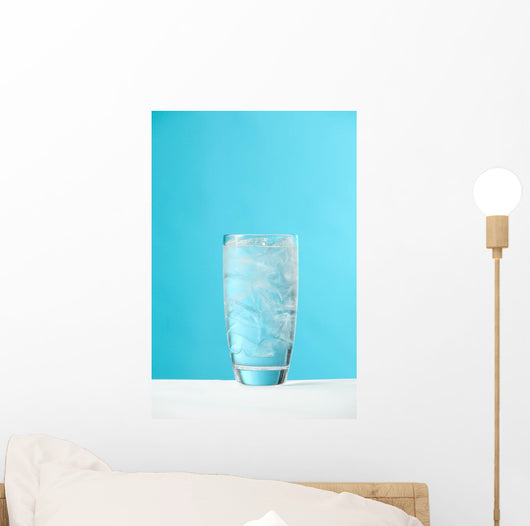 Very Full Glass Of Water With Ice Wall Mural
