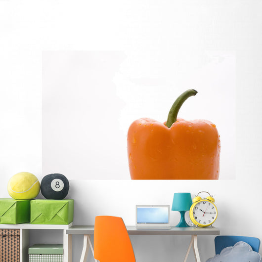 Side View Orange Pepper Wall Mural