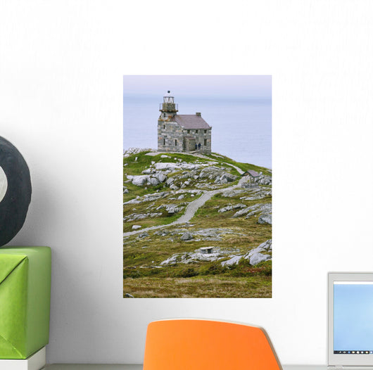 View Of Lighthouse, Rose Blanche, Newfoundland, Canada Wall Mural