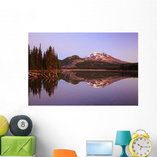 Sunrise Over Sparks Lake And South Sister Wall Mural
