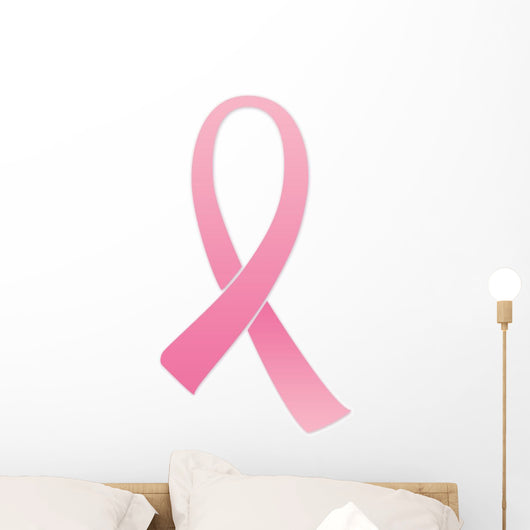 Breast Cancer Pink Ribbon Wall Decal