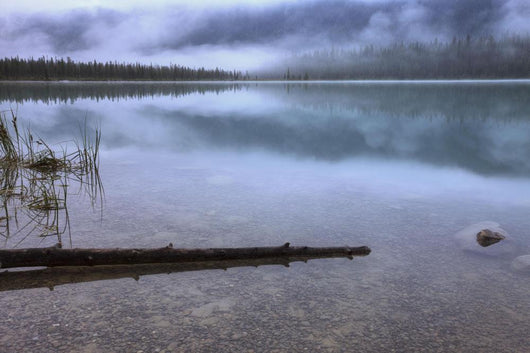 Foggy Morning With Clouds Over Emerald Lake Wall Mural