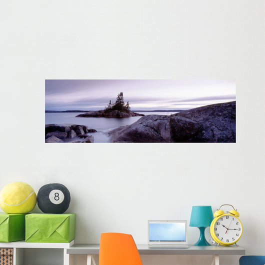 Dusk, Iconic Island, Lake Superior, On Wall Mural