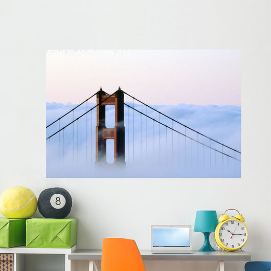 San Francisco, Golden Gate Bridge, Morning Fog, Ca Wall Mural