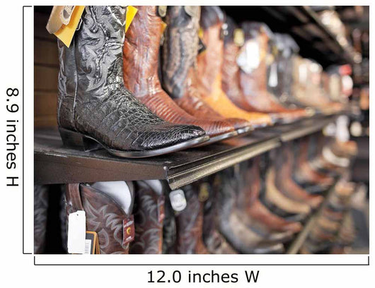 Rows Of Cowboy Boots In A Western Clothing Store Banff Wall Mural