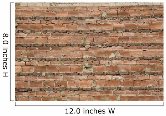 Close-Up Of A Brick Wall With Exposed Cement Mortar Joints Wall Mural