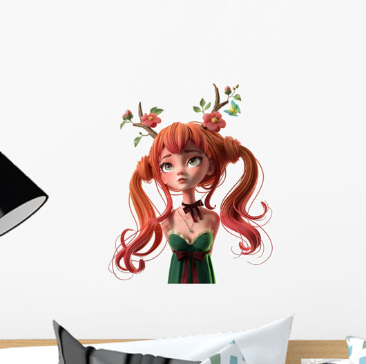 3d cartoon character red-haired wall decal – wallmonkeys