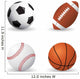 Sporty Balls Sports Wall Decal Sticker Set