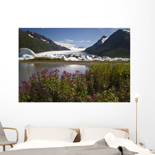 Scenic View Of Spencer Glacier Wall Mural