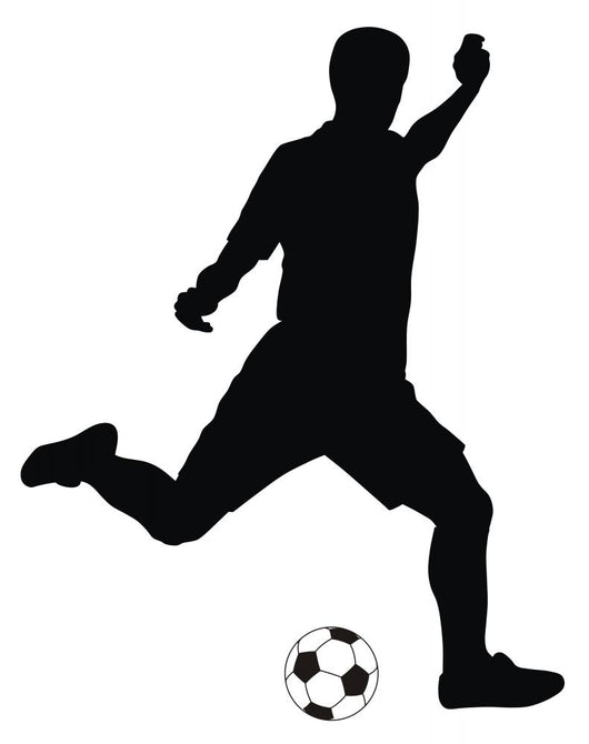 player kicking soccer Wall Decal