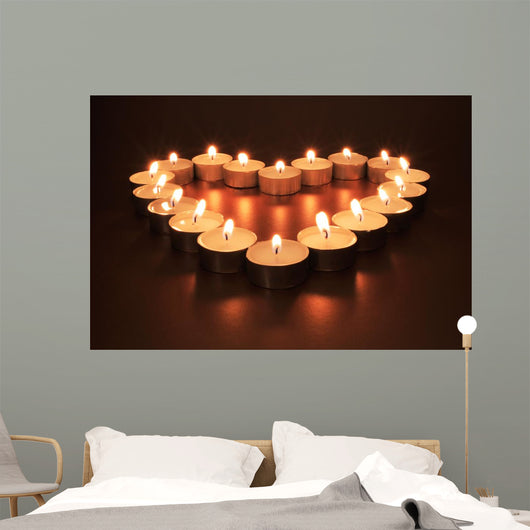 Heart of Candles Wall Mural