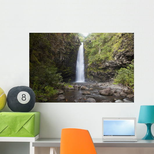 Hawaii, Maui, Alalele Falls on the Road to Hana Wall Mural