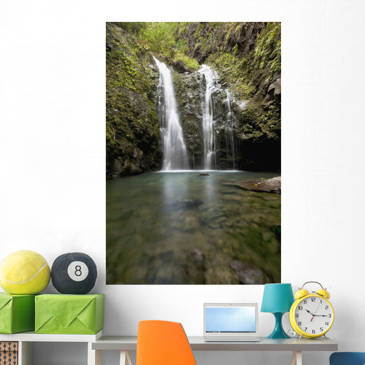 Waterfall and pond Wall Mural