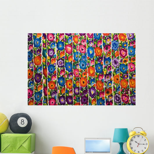 Gautemala, Chichicastenango, Brightly colored handmade textile Wall Mural