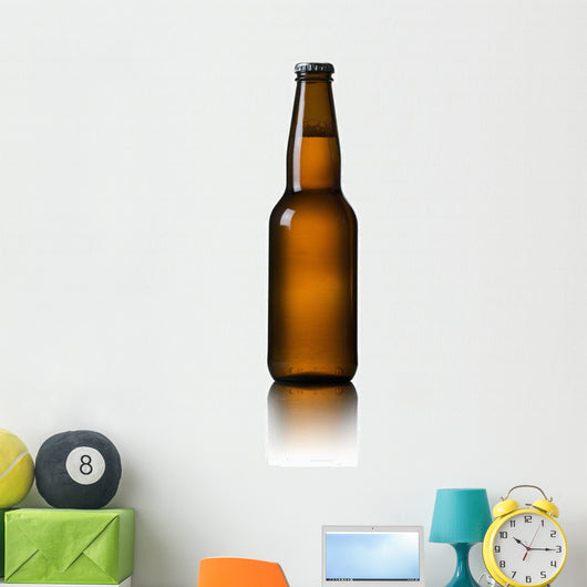 Close-Up Of Beer Bottle Wall Mural