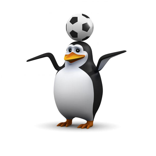 Football Penguin Wall Decal