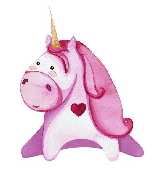 Chubby Pink Love Unicorn Wall Decal