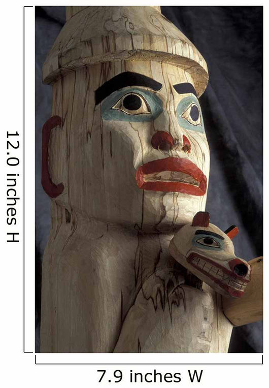 Tlingit Indian *Welcoming Totem* Close Up/Nby James Williams Wall Mural