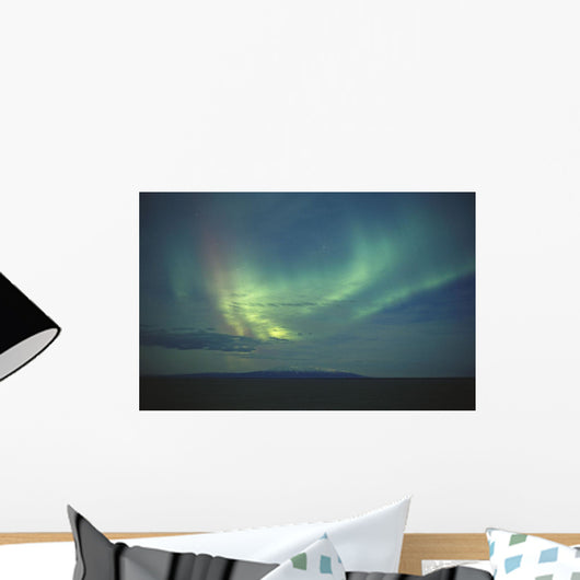 Northern Lights Over Cook Inlet & Mt Susitna Sc Alaska Scenic Wall Mural