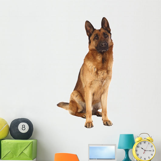 German Shepard Portrait Wall Decal