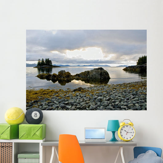 Scenic View Of The The Sun Setting Over Prince William Sound Wall Mural
