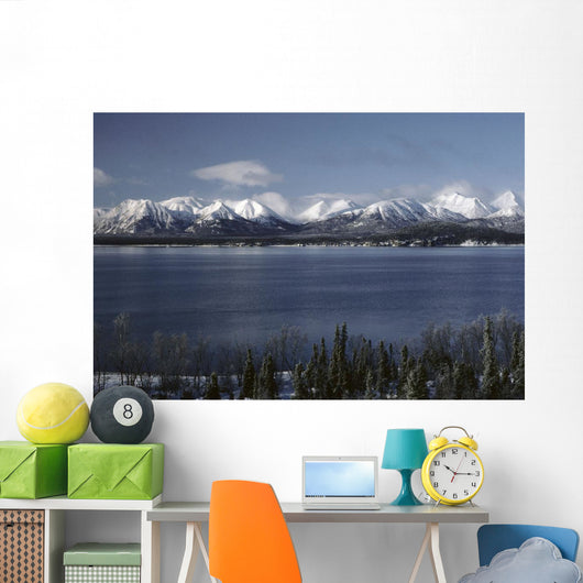 Lake Clark & Mountains Lake Clark Np Winter Ak Wall Mural