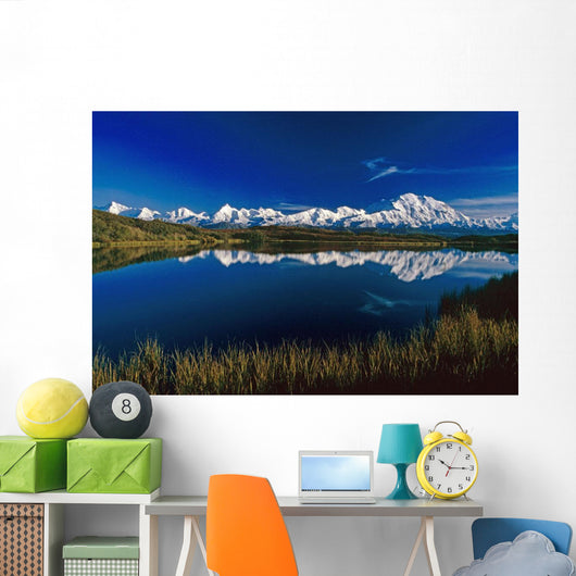 Mt Mckinley Relfected Wall Mural