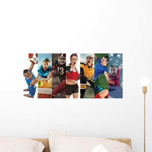 Sport Collage about Soccer Wall Decal