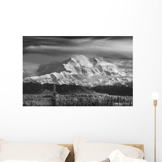 Infrared Image Of Mt Mckinley's North Face Wall Mural