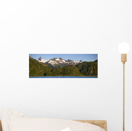Scenic View Of Double Glacier, Chigmit Mountains And Big River Lakes Wall Mural