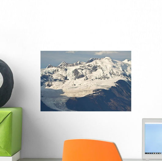Scenic View Of Cascade Glacier And Mt Gannet In The Chugach Mountiains Wall Mural