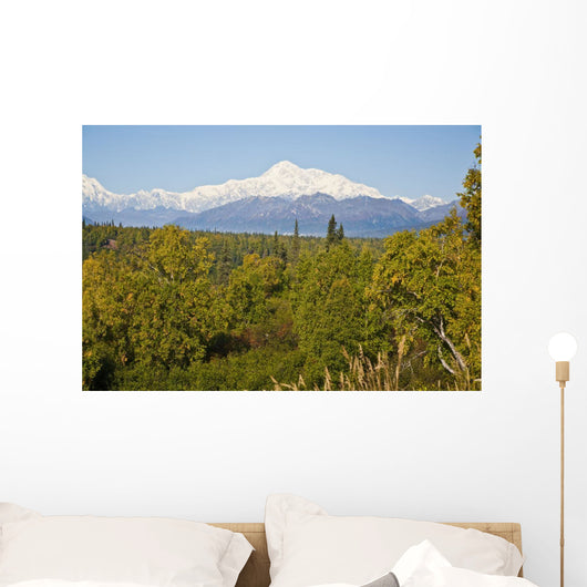 Southside View Of Mt Mckinley, Autumn, Southcentral, Alaska Wall Mural