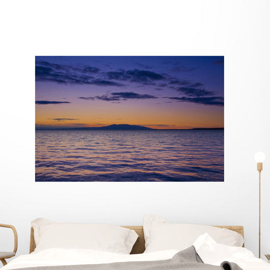 Scenic View Of Mount Susitna & Knik Arm At Sunset Wall Mural