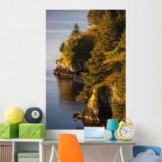 View Of Chiniak Bay, Kodiak Island, Southwest Alaska, Fall Wall Mural