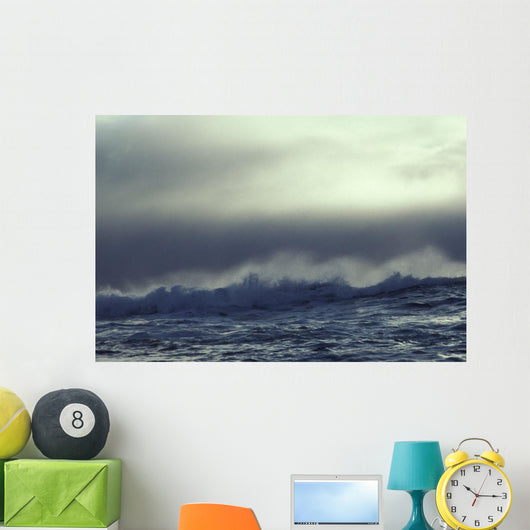 Waves Breaking across Underwater Wall Mural