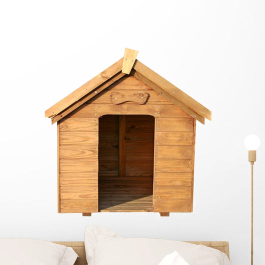 A Wooden Dog House Wall Decal
