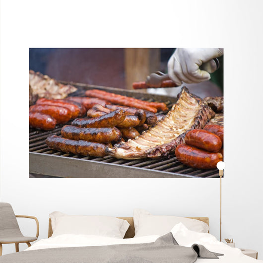 Sausages, sausages and ribs Wall Mural
