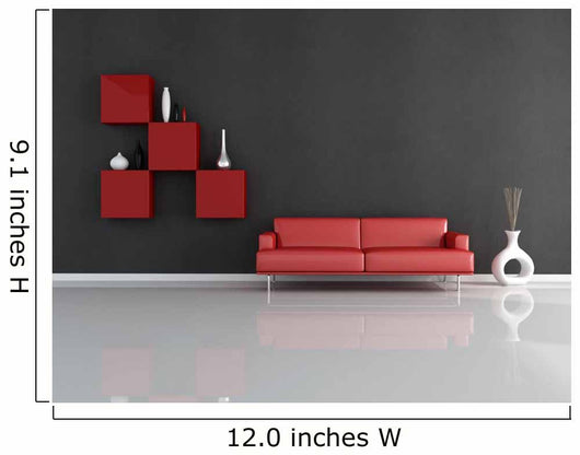 red and black lounge Wall Mural