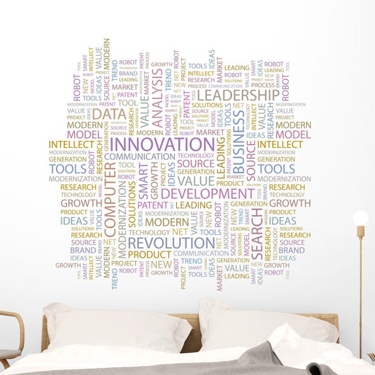 Innovation Word Collage White