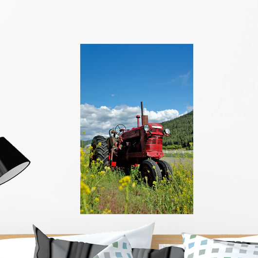 Red Farm Tractor Wall Mural
