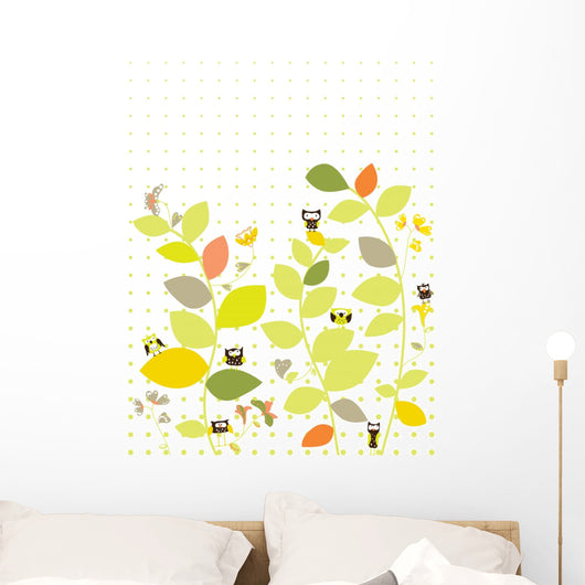 Jungle in Leaves Wall Mural