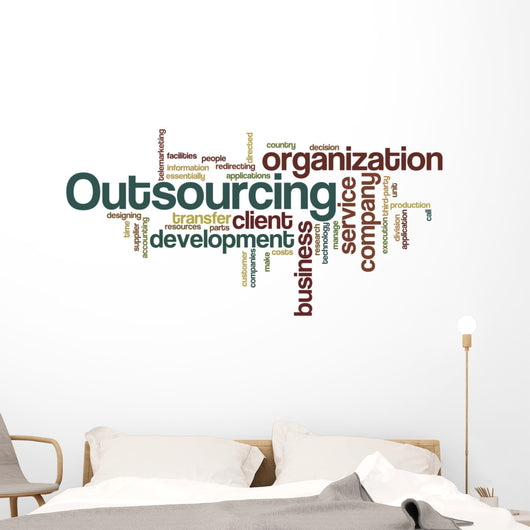 Outsourcing - Word Cloud Wall Decal